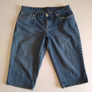 Baccini crop jeans womens size 10 blue